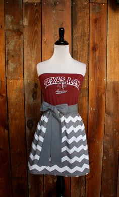 Texas A&M Aggies Strapless Game Day Dress by Jill be Nimble on Etsy