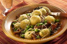 {top chef recipe} Gnudi With Brown Butter Peas & Mushrooms