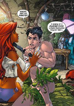 Lol Jason Todd wants his pants back. So she was going to molest him? 😑 and this is why I don't like Starfire Im Batman, Batman Comics, Gotham Batman, Batman Art, Batman Robin, Funny Comics, Comic Book Characters, Comic Character, Comic Books