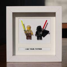 Star Wars Lego Mini Figures Darth & Luke Framed - 'I Am Your Father'