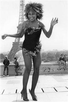 Tina Turner in Paris.