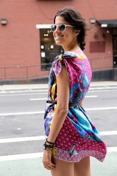 create your own dress using silk scarves