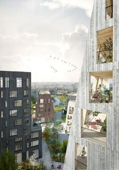 Gallery of C.F. Møller's Proposal for the Örebro Timber Town Blurs the Line Between City and Nature - 3