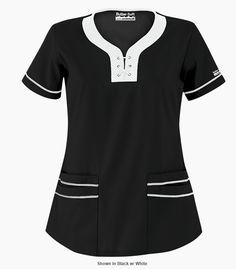 uniformes medicos con cuello chino - Buscar con Google Medical Uniforms, Work Uniforms, Modest Outfits, Casual Outfits, Scrub Shoes, Maternity Scrubs, Stylish Scrubs, Scrubs Uniform, Medical Scrubs
