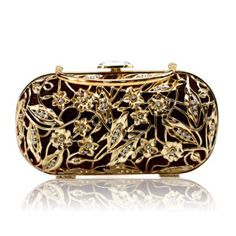 A more affordable metal clutch with Austrian rhinestones - $60