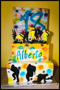 Minions&paintball - Cake by MySweetdream
