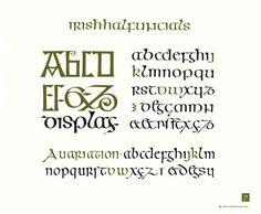 OCH: Irish Half Uncials Hand Fonts, Script Fonts, Illuminated Letters, Illuminated Manuscript, Fantasy Forest, Beautiful Calligraphy, Medieval Art, Alphabet, Hands