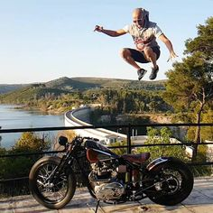 Jump for joy, the weekend is here  @bill_apostolou _________________________________ FACEBOOK LINK IN BIO  Triumph Nation merch store www.zazzle.com/designsbyck  For a feature,  Tag ✔#triumphnation ✔  DM @triumphnation/@cody675r  __________________________________ #triumph #daytona #moto #bonneville #bikelife #thunderbird #classic #motogp #yamaha #love #kawasaki #suzuki #ducati #harleydavidson #instamotogallery #custom #racing #honda #motorbike  #photo #funny #scrambler #mot...