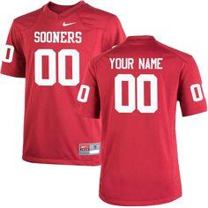 Oklahoma Sooners Nike Youth Custom Replica Jersey - Crimson
