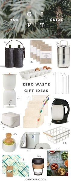 Zero Waste Gift Ideas for the Eco-Conscious, Gift Guide for Christmas & Holidays. - Zero Waste Gift Ideas for the Eco-Conscious, Gift Guide for Christmas & Holidays 2018 via jojotasti - Sustainable Gifts, Sustainable Living, Christmas Holidays, Eco Christmas Gifts, Sustainability, Earth, Ecology, Environmentalism, Cleaning