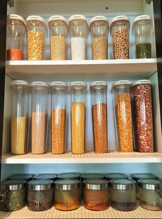 Organize your pulses, beans and spices using Ikea containers