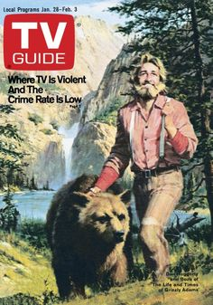"January Bozo the bear and Dan Haggerty from ""Grizzly Adams. Great Tv Shows, Old Tv Shows, Grizzly Adams, Mountain Man Rendezvous, Vintage Television, Tv Land, Vintage Tv, Tv Guide, Classic Tv"