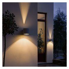 Applique Exterieure Design Duetto gris clair. Luminaires design www.spot-lumiere-led.com