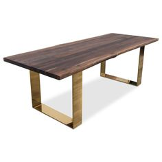 Eco Solid Walnut Slab Dining Table
