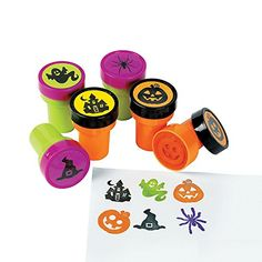 Halloween Mini Stampers - Most Wanted Christmas Toys Halloween Toys, Halloween Projects, Halloween Party, Ink Stamps, Alphabet, Fun Express, Lego Disney, Christmas Toys, Witches