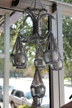 Chainmail and Crystal Chandelier by BacktoEarthCreations.deviantart.com on @deviantART