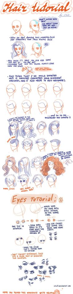 Hair and eyes, by Viria