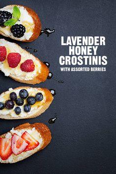 Lavender Honey Crostini