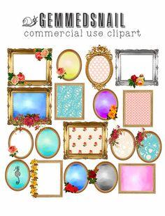 Shabby Chic Digital Frames 18 Png Format Golds Floral Frame Clipart