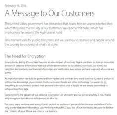 Apple Opposes FBI's Order to Make a Backdoor in iPhone Unlock Iphone, State Government, Messages, Apple, News, How To Make, Cook, Awesome, Apple Fruit