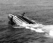 July 25, 1956. The Italian ocean liner Andrea Doria and the Swedish ship Stockholm collide off the coast of New England killing 51.