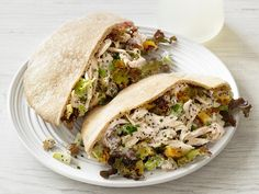 Poppy Seed-Chicken Pitas recipe from Food Network Kitchen via Food Network