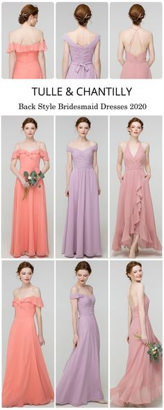 back style bridesmaid dresses 2020 trend#wedding #weddinginspiration #bridesmaids #bridesmaiddresses #bridalparty #maidofhonor #weddingideas #weddingcolors #tulleandchantilly Junior Bridesmaids, Wedding Bridesmaid Dresses, Tulle Wedding, Dream Wedding, Long Shorts, Maid Of Honor, Wedding Trends, Weddingideas, Wedding Colors