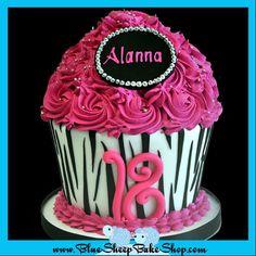 Zebra Giant Cupcake Cake