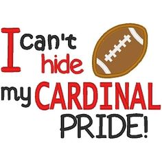 Cardinal Pride Boy Applique - 3 Sizes! | Words and Phrases | Machine Embroidery Designs | SWAKembroidery.com Band to Bow
