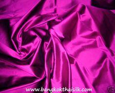 "DEEP FUCHSIA PINK 100% PURE SILK FABRIC 40""W BRIDESMAID DRESS WEDDING BLOUSE   Crafts, Fabric   eBay!"