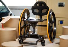 Carbon Black is a bespoke carbon fibre wheelchair that offers a high-tech alternative to the traditional wheelchair. Andrew Slorance, a wheelchair user, was inspired to produce a new model that did not look like a piece of medical equipment. ~beauty right there