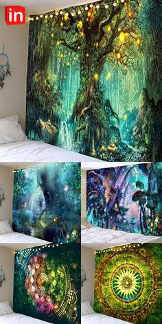 Pour Painting, Mural Art, Abstract Wall Art, Tree Art, Wall Tapestry, Amazing Art, Fantasy Art, Art Projects, Art Drawings