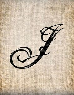 Antique Letter J Script Monogram Digital by AntiqueGraphique J Tattoo, Sleeve Tattoos, Script Lettering, Lettering Design, Bruder Tattoo, Letter G Tattoo, Tribal Letters, Letras Cool, Cute Couple Gifts