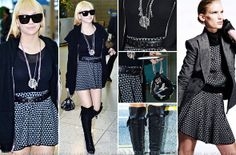 CL airport fashion: Karl by Karl Lagerfeld, Chrome Hearts, Chanel, Jeremy Scott, Tabitha Simmons