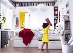 Những phương án lưu trữ thông minh dưới đây sẽ giúp thiết kế phòng ngủ nhỏ 10m2 của bạn thêm gọn gàng và ngăn nắp.