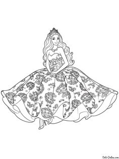 Barbie Doll Coloring Pages Through The Thousand Photos On The Web