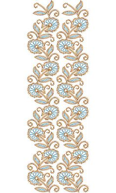 6809 Allover Embroidery Dress, Beaded Embroidery, Textile Patterns, Embroidery Patterns, Blouse Designs, Embellishments, Cross Stitch, Gems, Simple Pattern