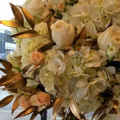 awesome vancouver wedding This BEAUTIFUL arrangement designed by @flowerfactory will surely be a show-stopper! #newyearseve #wedding #weddingflowers #floralarrangement #floraldesign #centerpiece #goldaccents #goldleaf #showstopper #stunninglybeautiful #sneakpeek #cantwait #instawedding #dlove_affair by @dlove_affair  #vancouverflorist #vancouverwedding #vancouverwedding