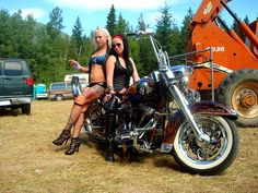 Wow, two so beautiful Harley girls on the Harley Davidson motorcycle! Most women ride Harley that is because of Harley's charm, but importantly, riding Harley with high speed on the open road that you will feel very relaxed,  be closer to nature and release all the pressures. However, solo riding is very lonely, do you think so? Invite several local single bikers to enjoy road trip together that must be very interesting and wonderful.  It's time to look for riding partners on bike dating…