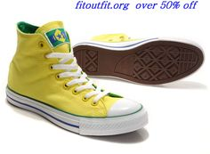 2010 #Converse All Star World Cup Brazil Flag Bright Yellow High Top Canvas #yellow