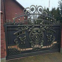 Grill Gate Design, Front Gate Design, Main Gate Design, Door Gate Design, House Gate Design, House Front Design, Metal Gates, Wrought Iron Gates, Front Gates