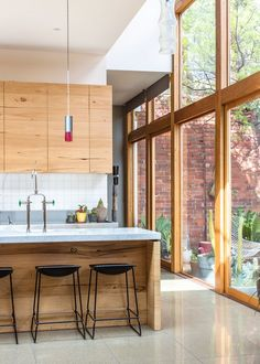 What do you think of this glass & timber blend? #interior #kitchen