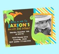 Dinosaur Invitation  Available with or without by BriezeesBoutique, $12.99