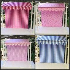 Table canopy for French bistro Cheese and bread buffet then dessert buffet Más Bar Deco, Craft Fair Displays, Market Displays, Display Ideas, Diy Y Manualidades, Candy Cart, Ice Cream Social, Ice Cream Party, Ice Cream Theme