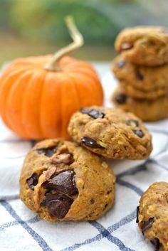 "Vegan Pumpkin Spice ""Bear Paw"" Cookies   http://www.radiantrachels.com/pumpkin-spice-bear-paw-cookies/"