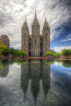 The Church of Jesus Christ of Latter-day Saints - Salt Lake City, Utah Salt Lake Temple, Salt Lake City Utah, Mormon Temples, Lds Temples, Angkor Wat, Beautiful World, Beautiful Places, Shanghai, Lds Temple Pictures