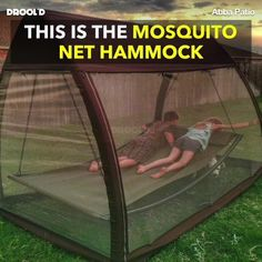 Available here ➡ http://bit.ly/2n7gLxA This hammock shields you from pesky mosquitos while you sway comfortably!