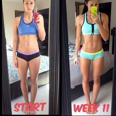 kaylaitsines:  @leah__peah!! Love this 11 week transformation ☺️ she has an amazing body before AND after!! She is just fitter and healthier now ☀️ that's what my guides do! Restore balance, help you gain fitness, health and happiness!! Check out my online ebooks at www.kaylaitsines.com/guides and get started today!