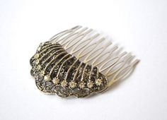 Vintage Spanish Filigree Fan Hair Comb with by JillsBoutique, $48.00