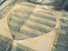 WobiSobi: Glitter, Striped Heart Sweatshirt, DIY